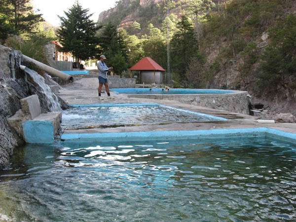 Revamped Recowata Hot Springs belies the pollution in the Adjacent Arroyo Tarerequa